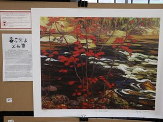 A Y  JACKSON  THE RED MAPlE  NUMBERED PRINT