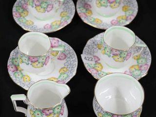 BEll CHINA  SHADE ROSE  TEA SET