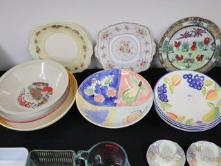 GROUP OF BOWlS  PlATES