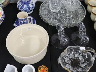 GROUP OF SERVING DISHES