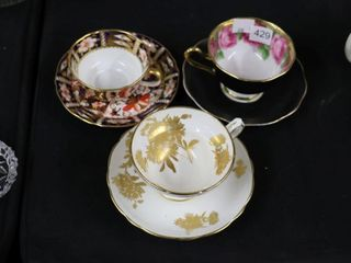 3 CUPS AND SAUCERS