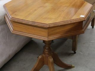 PEDESTAl BRASS ClAW FOOT lAMP TABlE 26 X26 X28