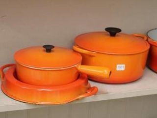 GROUP OF COUSANCE HEAVY COOKWARE