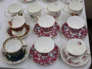 6 ROYAl AlBERT CUPS AND SAUCERS AND 4 ROYAl