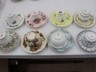 8 ASSORTED CUPS AND SAUCERS