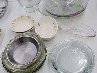 lARGE GROUP OF PIE PlATES  SERVING DISHES ETC