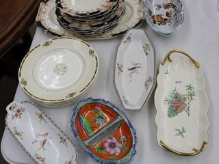 GROUP OF DERBY DISHES  SERVING DISHES ETC
