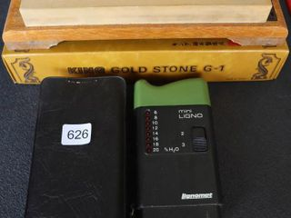 MOISTURE TESTER AND KING GOlD SHARPENING STONE