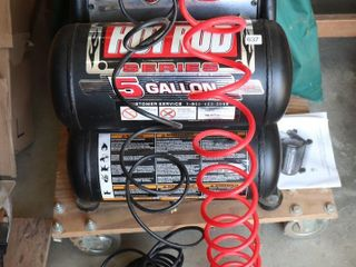 HOT ROD TWIN TANK 5 GAlON AIR COMPRESSOR WITH