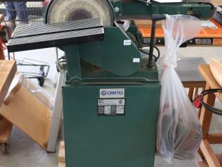 CRAFTEX 6  BElT AND 9  DISC SANDER WITH CART