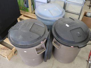3   20 GAl GARBAGE CANS