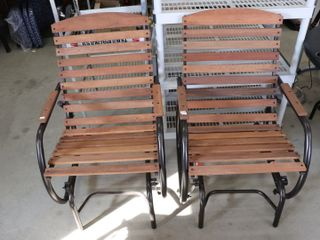 PAIR OF NEW GlIDER ROCKER PATIO CHAIRS