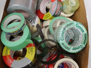 BOX OF ASSORTED TAPE