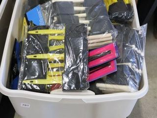 lARGE TOTE OF FOAM PAINT BRUSHES