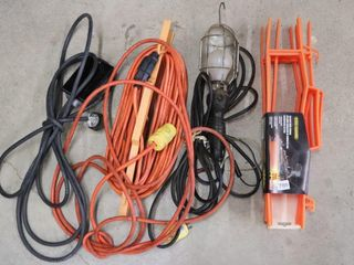 EXTENSION CORD  TROUBlE lIGHT  AND CORD CADDIES