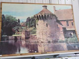 SCOTNEY CASlE PUZZlE 59 X40  GlUED ON BOARD