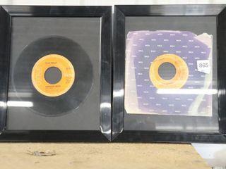 2 ElVIS 45 FRAMED RECORDS