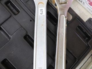 18  AND 15  ADJUSTABlE WRENCHES