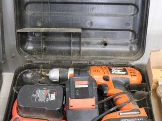 BlACK AND DECKER 14 4 DRIll WITH 3 BATTERIES AND