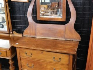 3 DRAWER WASH STAND WITH SWING MIRROR 32 X67