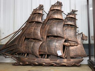 COPPER SAIl BOAT WAll HANGING