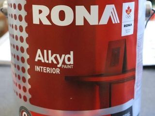 1 GAllON CAN OF RONA AlKYD PAINT GREEN