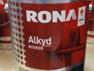 1 GAllON CAN OF RONA AlKYD PAINT GREY