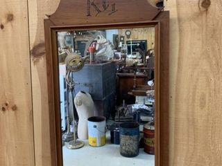 Unusual Pine Framed Quebec Mirror