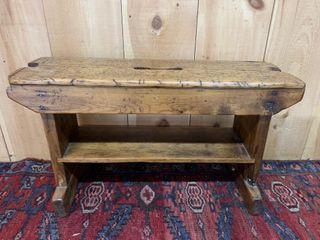 Exceptional Primitve Pine Bench