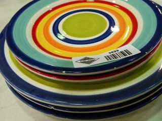 lot of Very Colorful Plates
