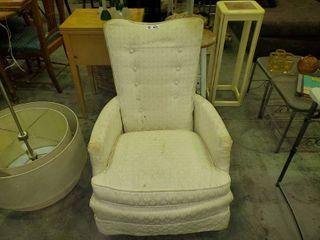 Small White Armchair