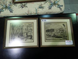 lot of 2 Pieces of Signed Artwork