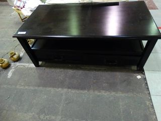 Very Nice Black Coffee Table with Drawers