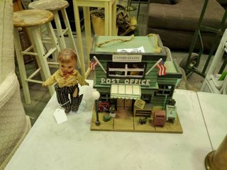 Country Style Birdhouse with Doll on Stand