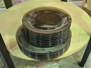 Assorted Black Transparent dishware
