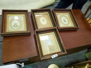 Set of 4 Antique Wood Picture Frames