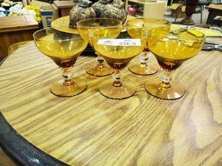 5  Amber Glasses