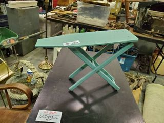Teal Wooden Decorative Ironing Board