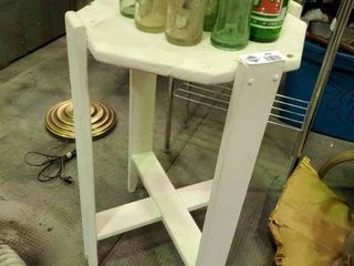 Small Wooden White Plant Stand