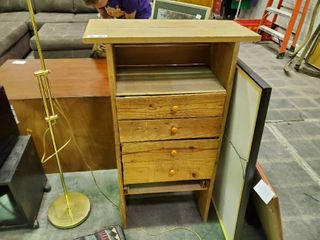 Homemade Wood Chest of Drawers  Approx  43 x25 x11