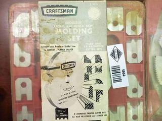 Craftsmen Radial   Bench Saw Molding Set  Thin Rimmed Satin Cut Dado Set
