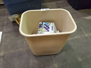 Trashcan with Misc  light bulbs Home Electronics