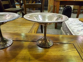 2  Silver Plate Dishes Holders