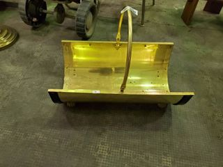 Golden Metal Firewood Holder