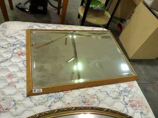 Wood Framed Mirror l  42  W  30
