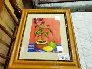 Framed Floral   Fruit Print  N  Wallace 05