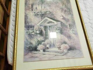 Framed Floral Home Print