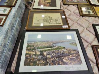 2  European Prints  Bordeaux  Chateau D Anet by  Epooue De Heneri II