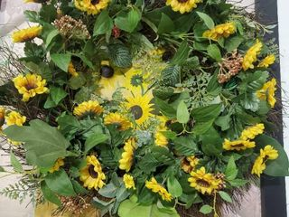 Sunflower Decor  Wreath and Painting