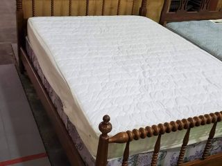 Full Size Bed Box Spring and Wooden Frame